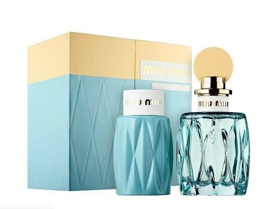 Miu Miu L'Eau Bleue 100ml EDP Spray / 100ml Body Lotion